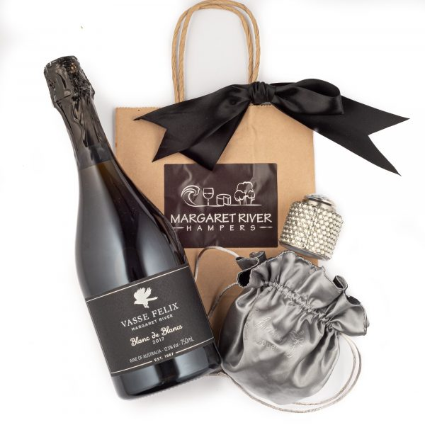 Bubbles and Champagne Stopper Gift Bag