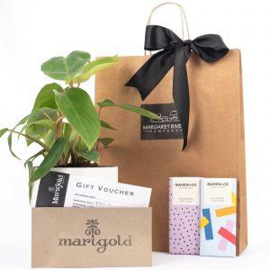 Margaret River Gift Hampers, chocolate, plants, wine